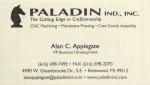 PALADIN IND., INC.