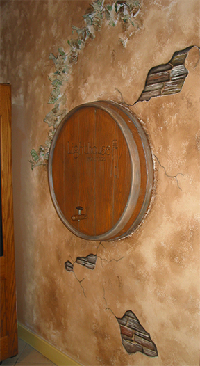 wine barrel end
