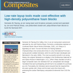 Hi-Perf. Composites Article Discusses Metal Vs. Soft Tooling