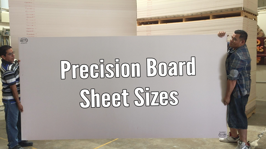 dimensional signs sheet sizes