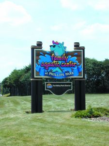 Pirok Design's Family Aquatic Center sign