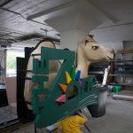 Steel frame 3D camel sign